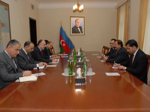 Minister Elmar Mammadyarov received Afghanistani Minister of Communications and IT Sangin Amirzai