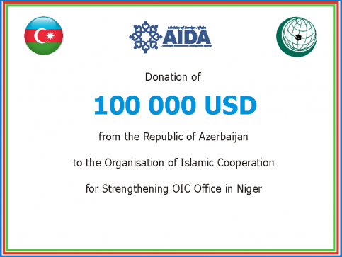 Republic of Azerbaijan made a donation to the Organization of Islamic Cooperation