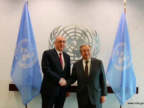 Foreign Minister Elmar Mammadyarov met with António Guterres, the Secretary General of the UN